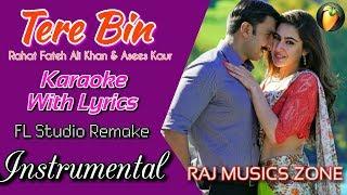 Tere Bin Instrumental | Karaoke | Simmba | Ranbeer & Sara | Rahat Fateh | Raj Musics Zone | 2018