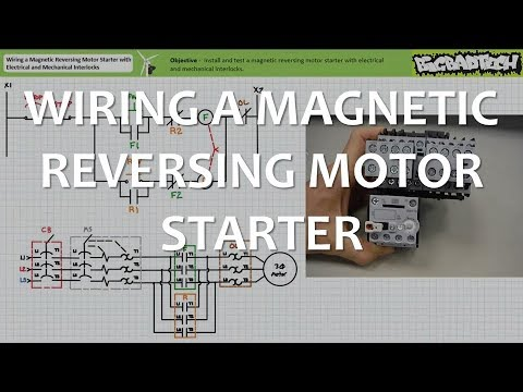 Wiring    a Magic Reversing Motor Starter with Interlocks  YouTube