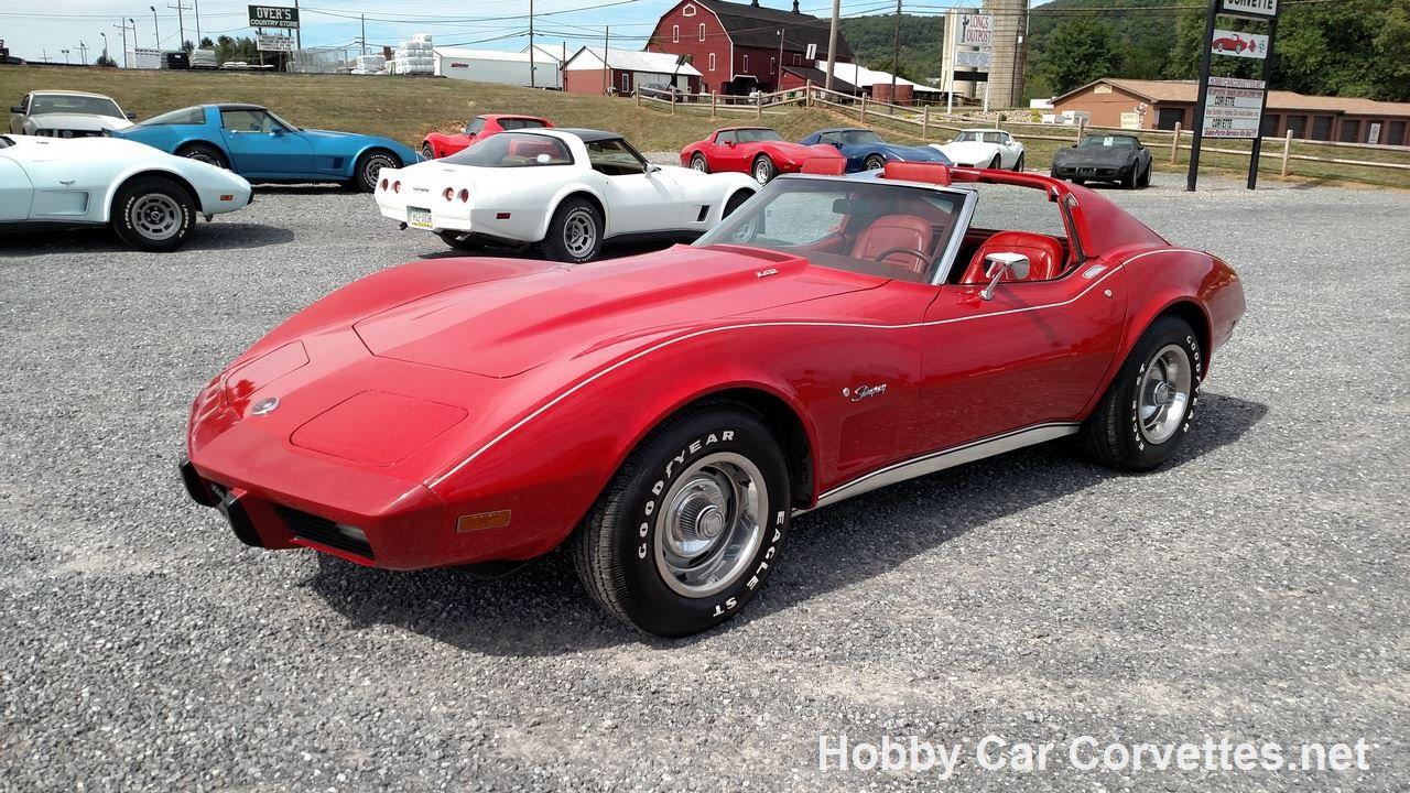 1976 red red corvette stingray for sale youtube. Black Bedroom Furniture Sets. Home Design Ideas