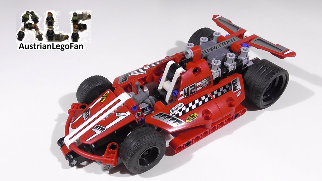 lego technic 42011 race car action rennwagen lego speed build review youtube. Black Bedroom Furniture Sets. Home Design Ideas