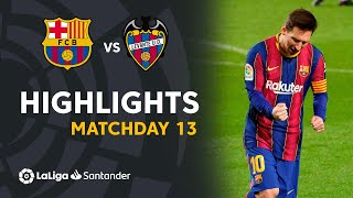Important win for fc barcelona at the camp nou against levante ud with decisive goal of lionel messi in '76 #barçalevante matchday 13 laliga santande...