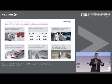 Communication Controllers for Smart Charging in Commercial Vehicles