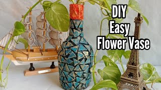 How to make Flower vase / Bottle Art / Antique bottle art