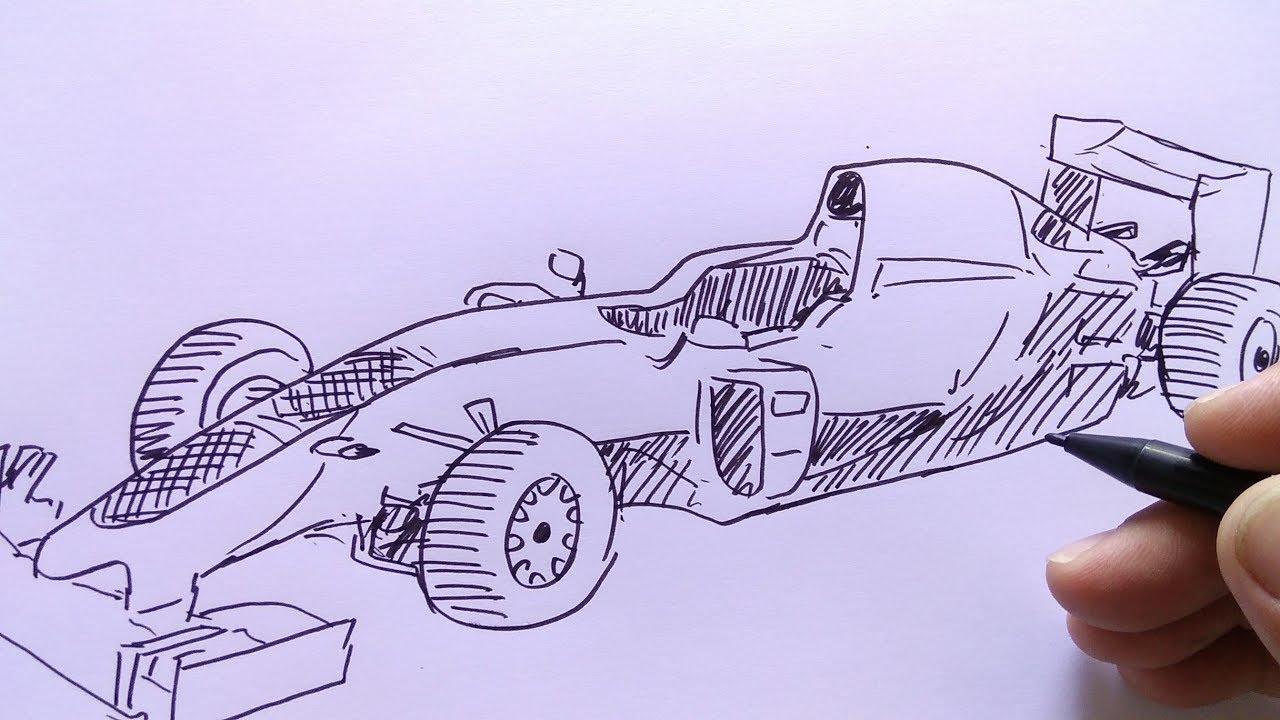 Cara Menggambar Mobil Balap F1