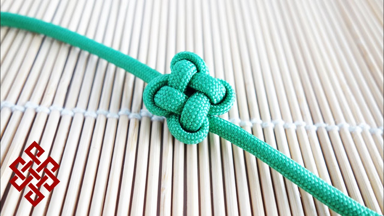 How To Tie A Chinese Clover Four Leaf Clover Knot