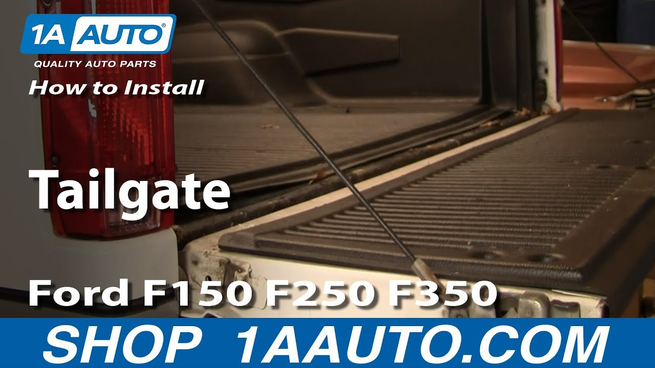 how to replace tailgate ford 92 96 f150 250 350 [ 1280 x 720 Pixel ]