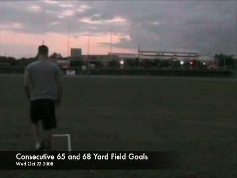 Rob Zarrilli Longest Field Goal Kick 70+ Yards******