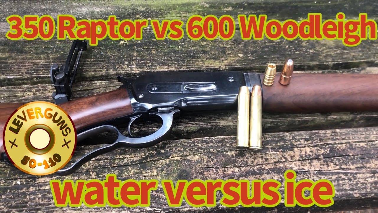 Lever action elephant rifle, 600gr Woodleigh VS 350gr Raptor