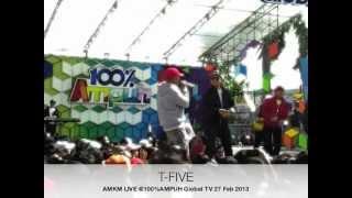 [Live] T-Five - A.M.K.M. (Aku Mendua Kamu Mendua) at 100% Ampuh GlobalTV Feb 27th 2013