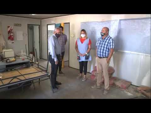 Zamora recorrió obras en escuelas de Benavídez y Don Torcuato