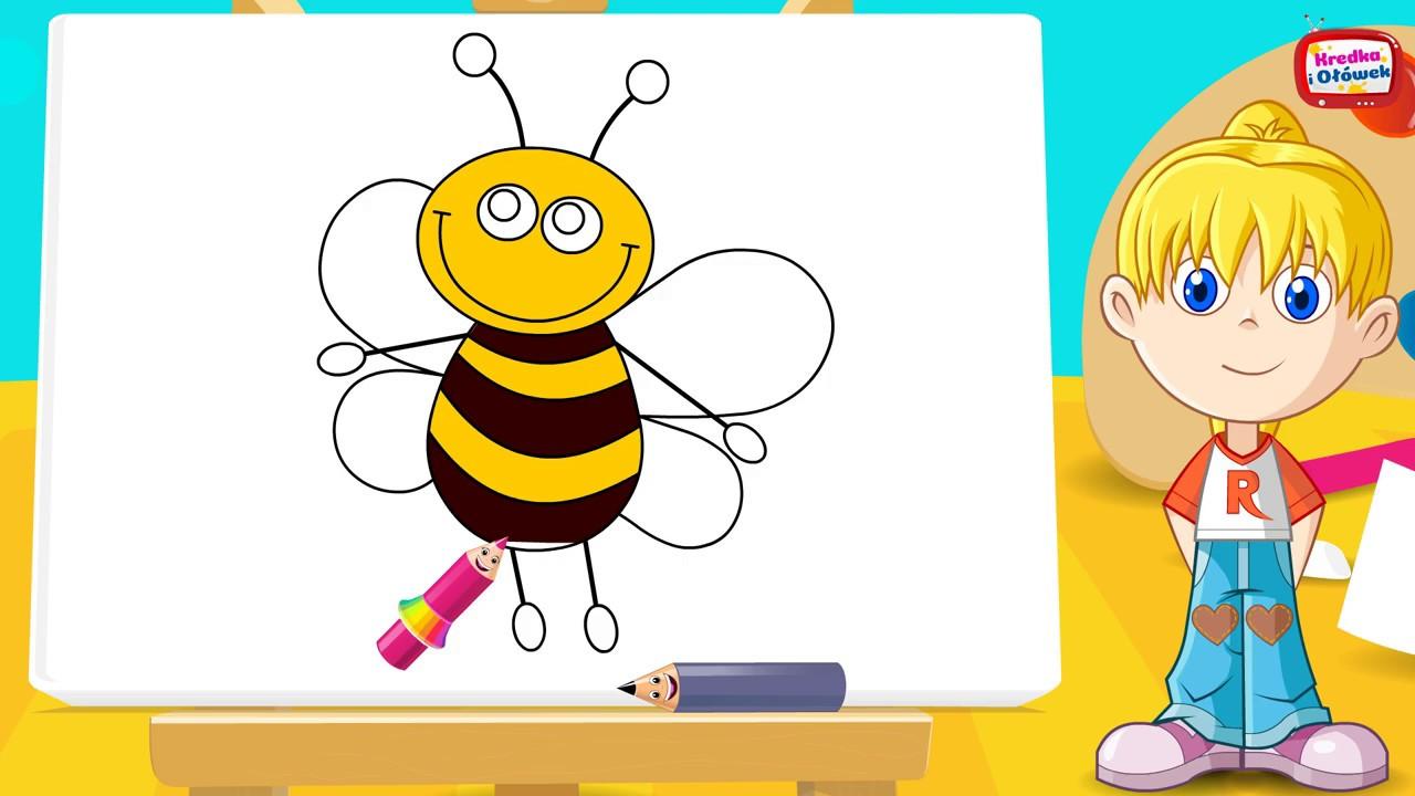 Jak narysować pszczółkę Ulkę? @Kredka i Ołówek - rysuj z nami!