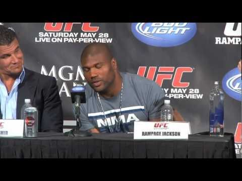 Rampage Jackson, artist, at UFC 130 press conference