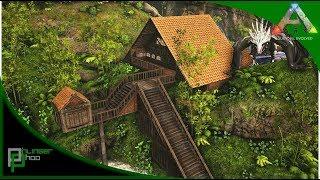 Ark: Ragnarok - RAGNAROK LOOT - WATERFALL BASE BUILDING AND ICE WYVERN EGGS! #21