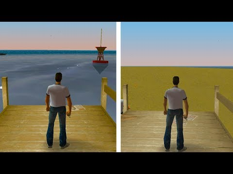 GTA Vice City With NO WATER... What Does It Look Like?