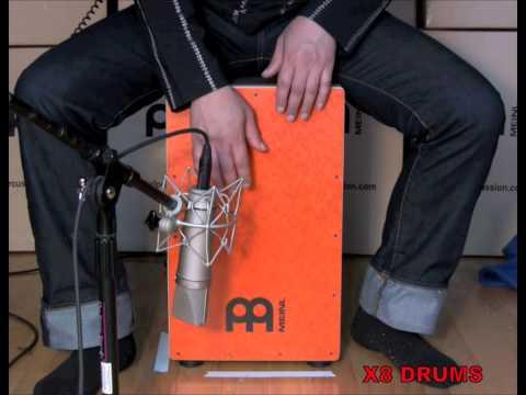 Meinl Collection Cajon, Orange Burl Jam with Jimmy...