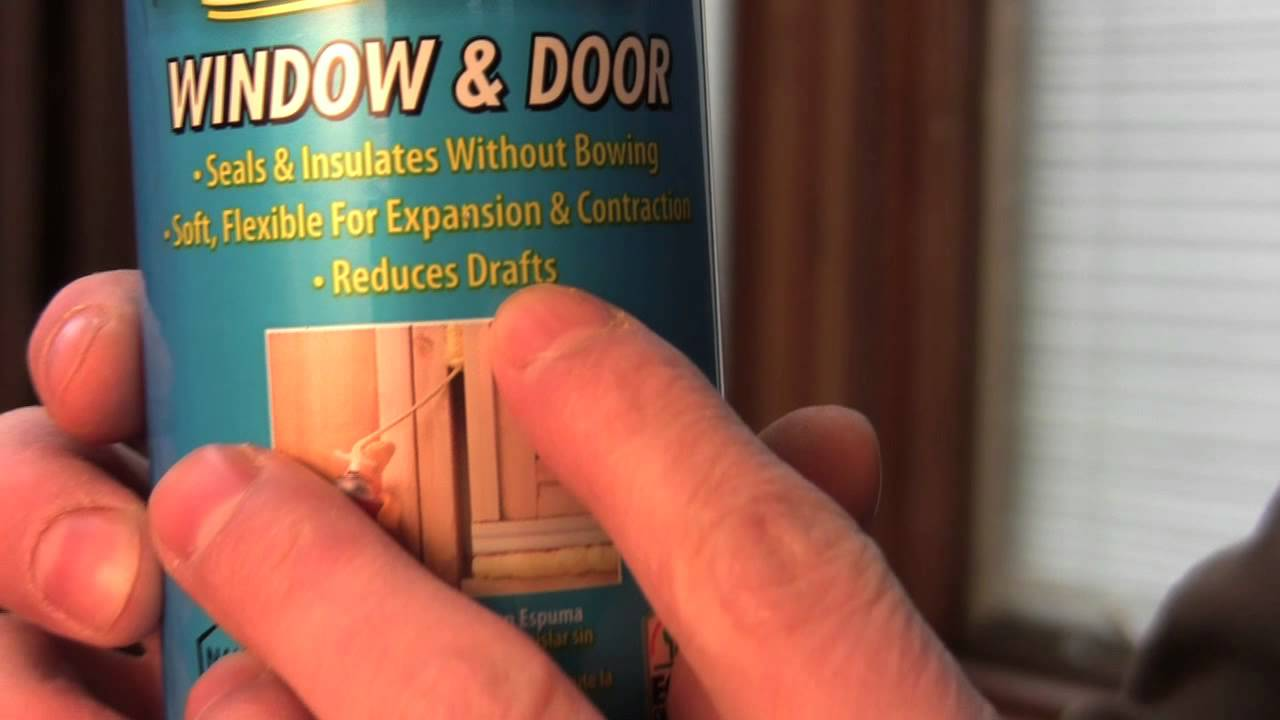 & Door Insulation - DIY - How to insulate around a door - YouTube