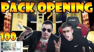 PACK OPENING ЗА 100 ЛВ С МАФИЯТА И БРАТ МИ !!!🤫😱 FIFA 19