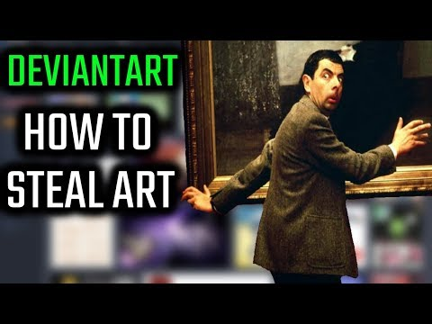 DeviantArt - How to steal art