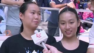 2016學界D1游泳 C組四式接力隊 接受訪問 (協恩中學)