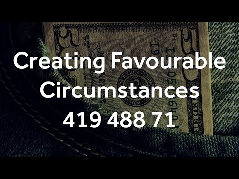 Grabovoi Numbers - Creating Favourable Circumstances - 419 488 71