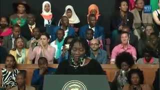 Obama's Sister Introduces Him In Kenya