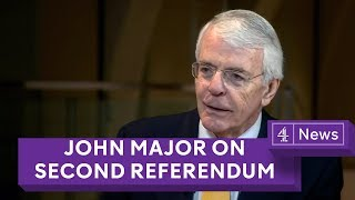 Sir John Major: Parliament should 'take control' of Brexit