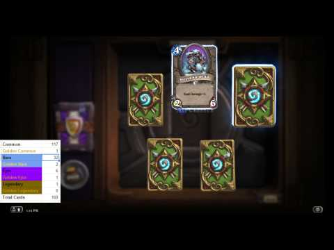 Opening 50 The Grand Tournament (TGT) Hearthstone Packs