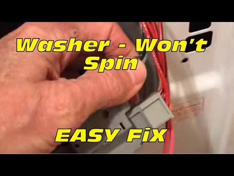 Front Load Washer Won't Spin (FIXED) -- FAST and EASY