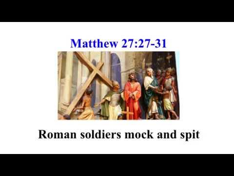 Gospel of Matthew 27:27-31 Roman soldiers spit & mock Pier Paolo Pasolini Il vangelo secondo Matteo