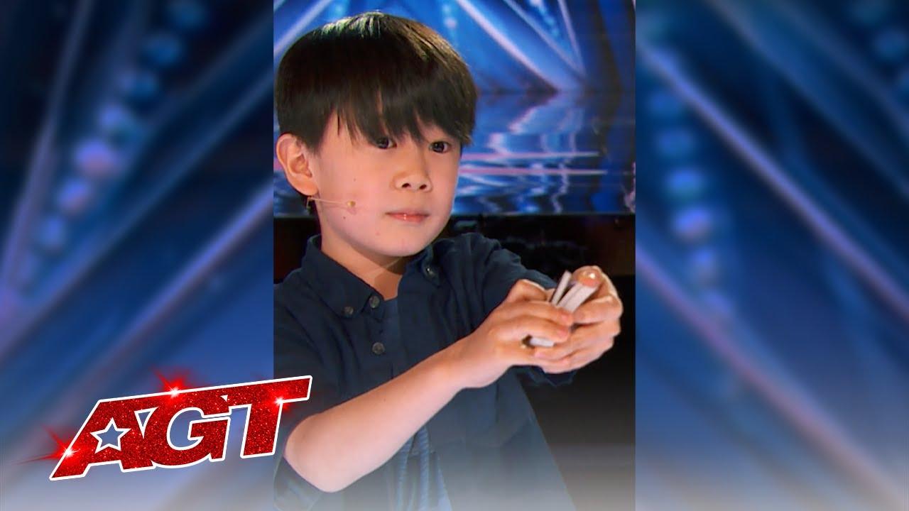 #Shorts | Adorable Kid Magician WOWS The Judges | America's Got Talent 2021
