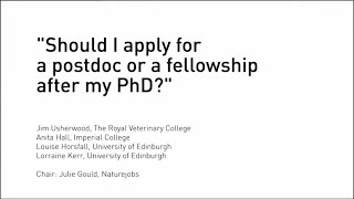 Should I apply for a postdoc or fellowship after my PhD