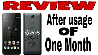 Review Lenovo k5 Note 64GB. after a month usage