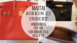 1c9b920a7bbf Maitai Birkin 25 Insert Review   Try on in Kelly 28 Retourne