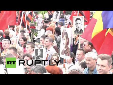 Moldova: Tens of thousands partake in Chisinau Immortal Regiment march