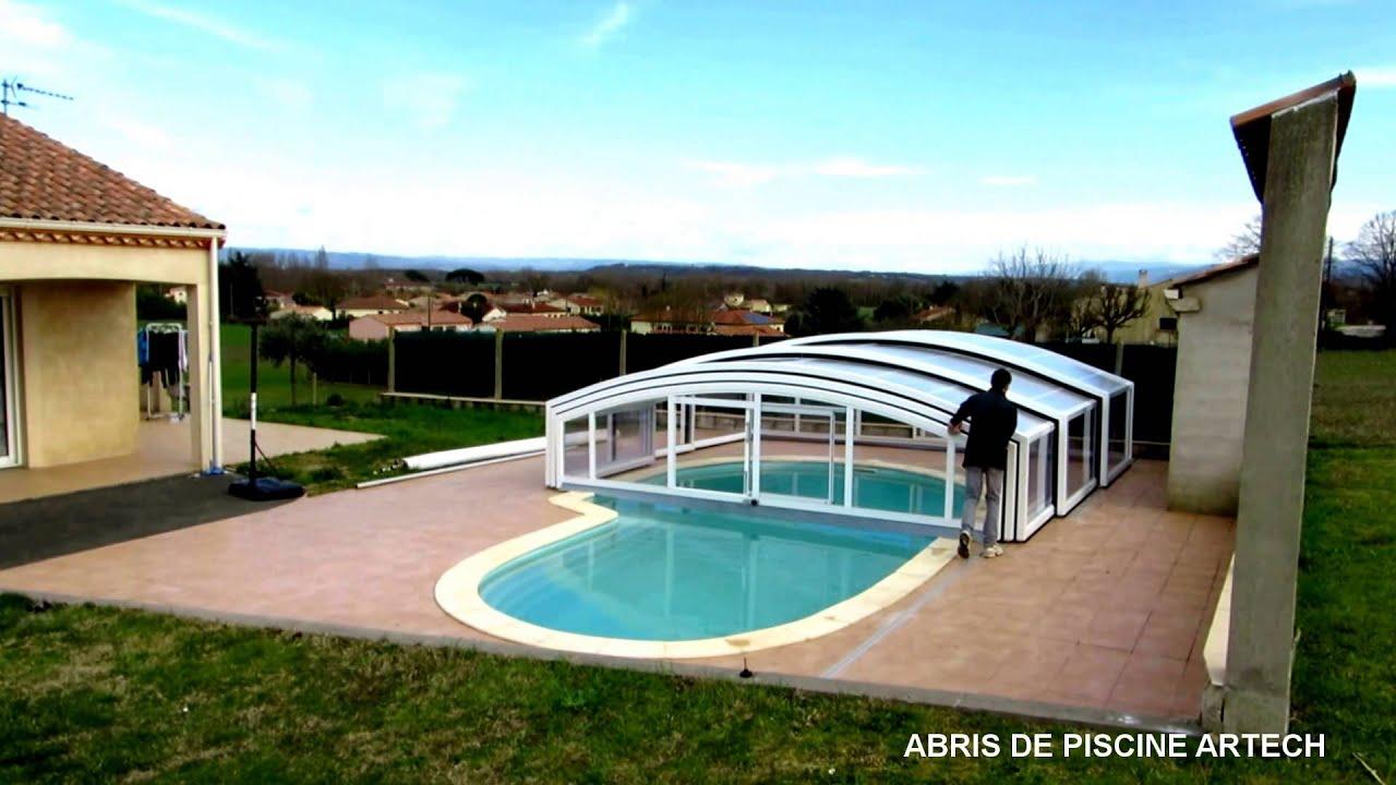 Fonctionnement abri de piscine par abris artech fabricant for You tube abri de piscine