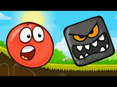Crazy RED BALL & Black Square #1 game Red Ball 4 \Video for kids