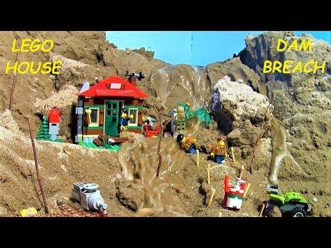 BIGGEST LEGO DAM BREACH FILM - LEGO HOUSE ! THREE PARTS !