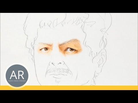Zeichnen lernen  – Portrait zeichnen, diverse Techniken für Porträt zeichnen