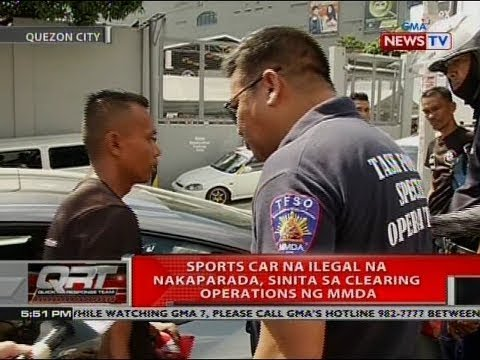 QRT: Sports car ilegal na nakaparada, sinita ng clearing operations ng MMDA