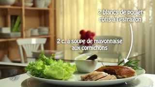 Choumicha : Sandwichs de poulet à l'estragon (VF)