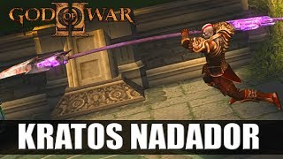 ◎ GOD OF WAR 2 - COM GLITCHES - KRATOS NADADOR E ETC