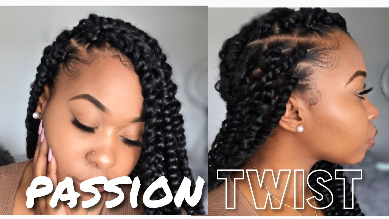 How To Easy Passion Twist Using Rubber Band Method Step By Step Beginner Friendly Kinzey Rae Youtube