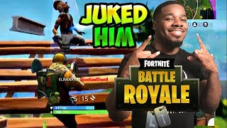Fortnite Battle Royale ULTIMATE JUKE MOVE TO GET OUT OF DANGER! FORTNITE GAMEPLAY