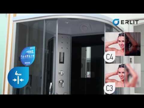 Обзор душевых кабин Erlit™ ER 4510TP C3 и 4510TP C4