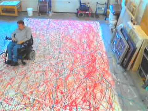 Big Painting The Wheelchair as Paintbrush  YouTube