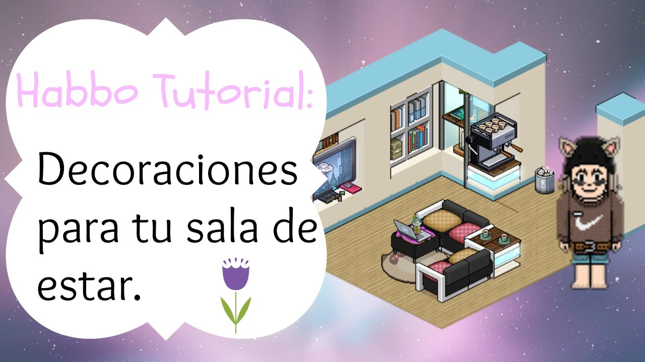 Habbo tutorial decoraciones para tu sala youtube for Habbo decoraciones
