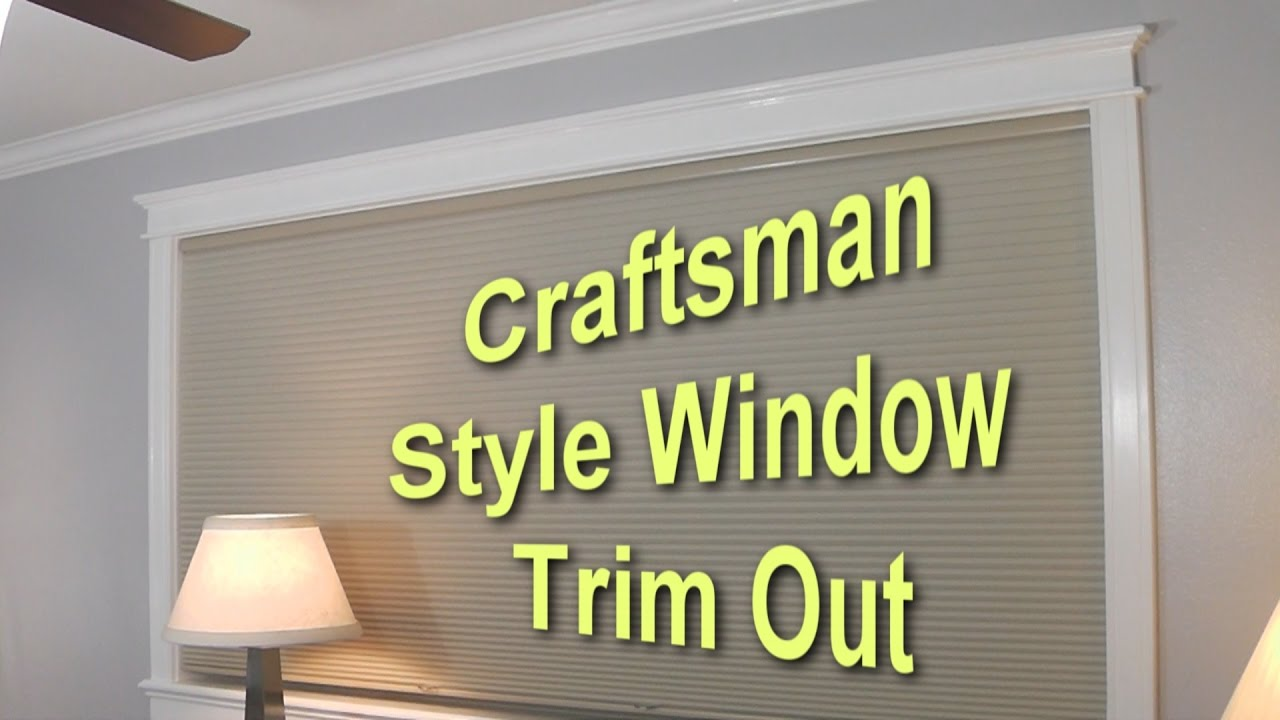 Craftsman window trim styles - Craftsman Style Window Trim Out Part 1