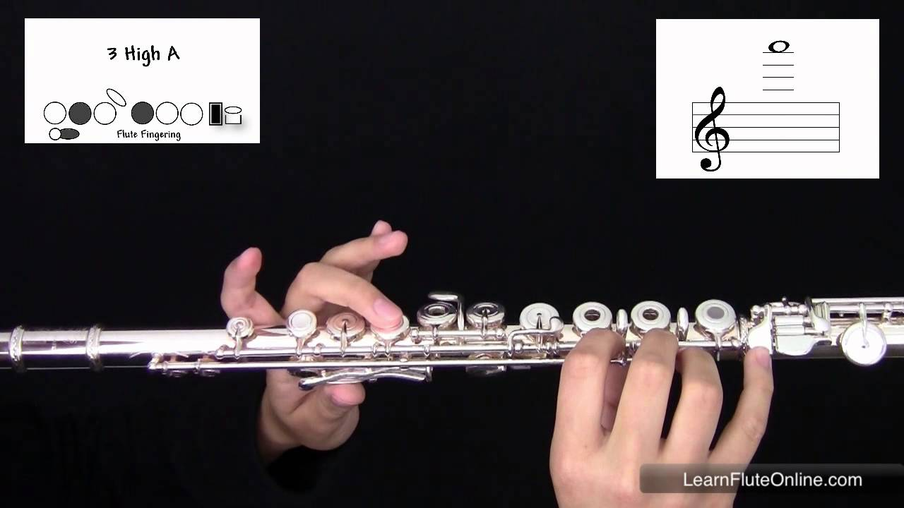 How To Play The Note A on the Flute: Learn Flute Online