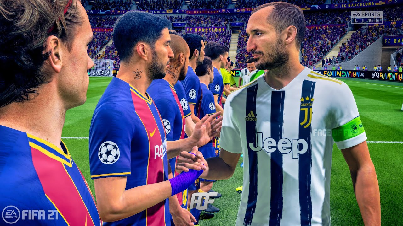 Fifa 21 Juventus Vs Fc Barcelona Uefa Champions League Youtube