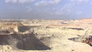 قناة السويس الججديدة : مشهد عام للحفر 29 أكتوبر 2014